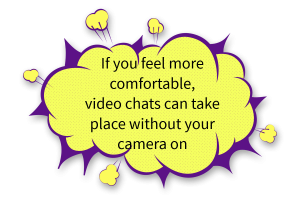 Audio rather than video chat is okay